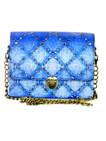 Denim Stud Box Clutch