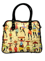 African Tribal Cabin Travel Bag